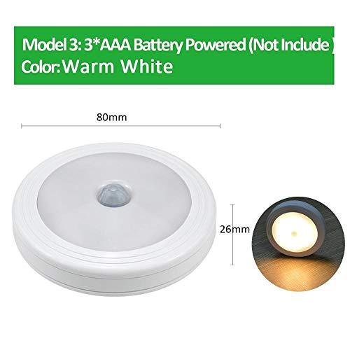 Bewegingssensor LED nachtlicht wandlamp keuken PIR Motion Detect kast garderobe trappen weg slaapkamer verlichting