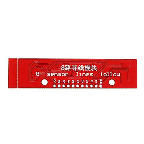 Elektronisches Modul Infrarot-Detektion-Tracking-Sensor-Modul 8-Kanal-Infrarot-Detektor Vorstand Geekcreit for A-r-d-u-i-n-o - Produkte, dass die Arbeit mit dem offiziellen A-r-d-u-i-n-o-Boards 5Pcs