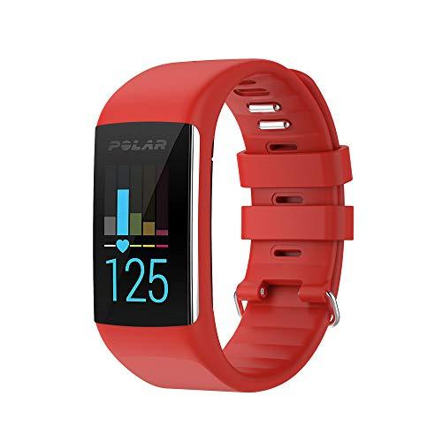 para Polar A360 / A370 Smart Watch Fitness Tracker Correa de Reloj de Repuesto de Caucho de Silicona Suave Correa de muñeca para Polar A360 Smart Watch (Solo Banda, sin rastreador)