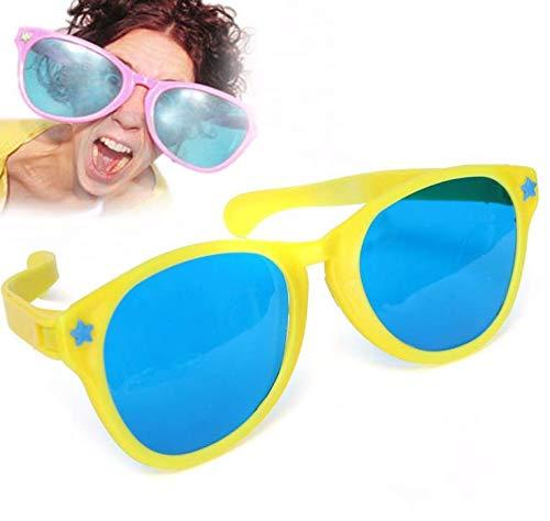 Gwill Paquete de 2 gafas de sol de gran tamaño Payaso gigante Prop Props Novedad Gran Comedia Funny Broma Gafas de sol para payaso Gag Fancy Dress Gafas de sol Prop