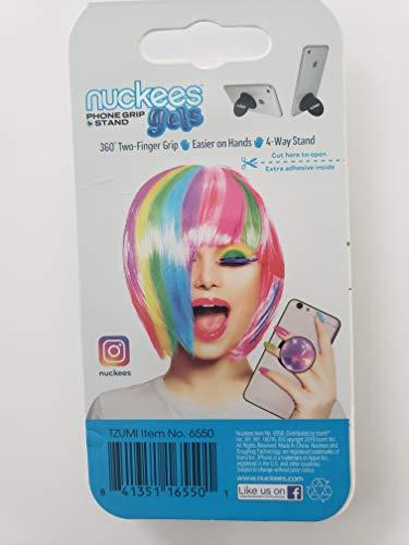 Nuckees Gels e z 2 Finger Smartphone Grip Stand Unicorn Pink
