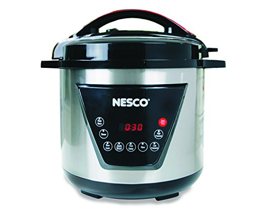 Nesco American Harvest 8 Qt Nesco PC8-25 Pressure Cooker, 8 Quart, Black