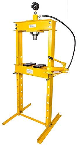 JEGS 81638 Hydraulic Shop Press 20-Ton Floor Mount Working...