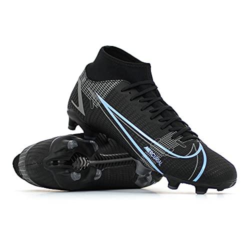 Nike Herren Superfly 8 Academy Fg/Mg Fußballschuh, Black/Black-Iron Grey, 42 EU