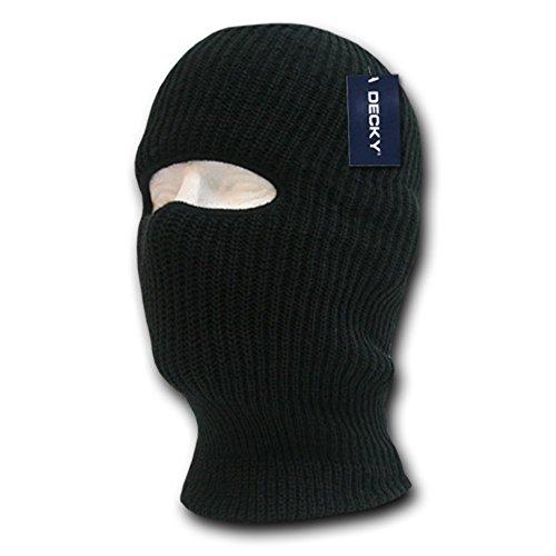 DECKY Face Mask 1 Hole Beanie, Black