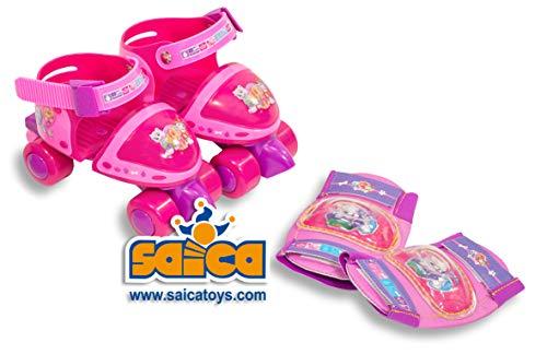 PAW PATROL- Patines de Ruedas, Color Rosa (Saica 2228)