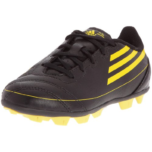 adidas F5TRX HG J–Schuhe Fußball vor Ort Festplatte Kinder–Schwarz/Soleil/Soleil, Schwarz - Schwarz - Noir/Soleil/Soleil - Größe: 28