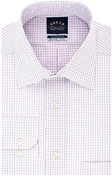 Eagle Men's Dress Shirt Non Iron Stretch Collar Regular Fit Check
