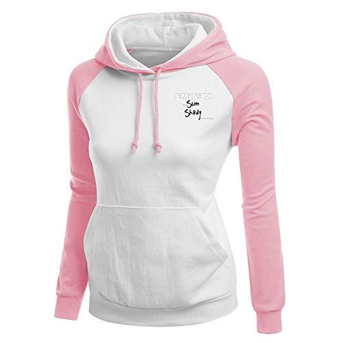 Eminem Pullover Frauen Patchwork Pullover Lässige Hoodie Tops Damen Einfaches Sweatshirt Unisex (Color : Pink05, Size : S)