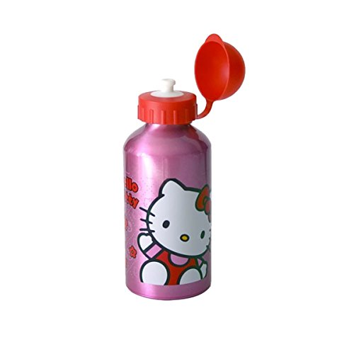 Botella Hello Kitty Girls Pink & Red de agua de aluminio