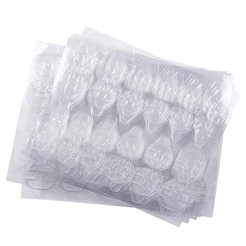 Kalolary 20 Blatt Doppelseitiger Nagelkleber Aufkleber Transparent,Wasserdicht Flexible False Nail Glue Jelly Gel Tape Adhesive Tabs Fake Nails Tips Kunstnägel Aufkleber für Nagelstudiozubehör