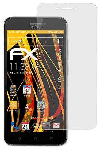 atFolix Panzerfolie kompatibel mit TP-Link Neffos Y5s Schutzfolie, entspiegelnde & stoßdämpfende FX Folie (3X)