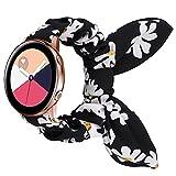Mujeres Scrunchie Elastic Strap Adecuado para Samsung Galaxy Watch Active 2 40mm 44mm Sansung Gear S3 Classic Huawei Watch 2 Fashion Band Cierre de reemplazo (Band Color : 118, tamaño : Fit 20mm)