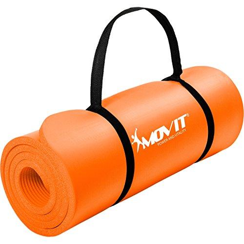 Movit Pilates Gymnastikmatte, Yogamatte, phthalatfrei, 183 x 60 x 1,0cm, Yoga Matte in Aprikose
