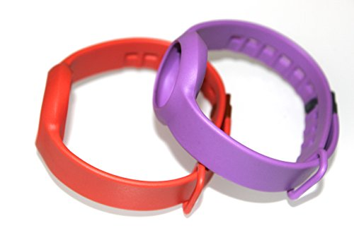 JSP SET 1pc Red and 1pc Purple Regular Size Straps Bands For JAWBONE UP MOVE Bracelet Smart Band (No Tracker) Replacement Bands Wireless Fitness Accessories Pedometer Tracking Exercise Sport Activity