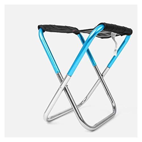 Silla plegable de marco de acero de ocio al aire libre Portátil de aleación de aluminio Silla plegable taburete del asiento de pesca al aire libre Silla plegable espesado de picnic camping Pesca
