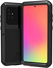 Samsung Galaxy A71 Case, Aluminium Metalen Gorilla Glas Waterdicht Schokbestendig Militair Heavy Duty Stevige Beschermhoes Hard Case voor Samsung Galaxy A71 (A71, zwart)