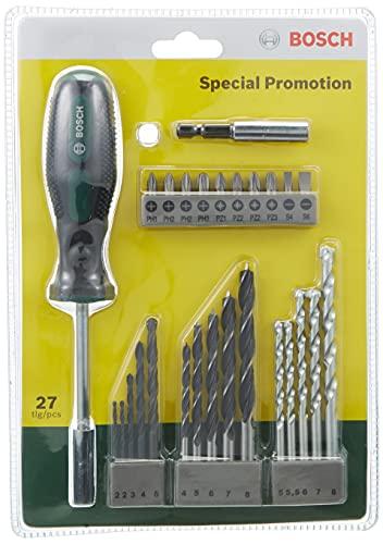 Bosch Professional 2607017201 2607017201-Kit básico de Puntas y Brocas Bosch para Bricolaje