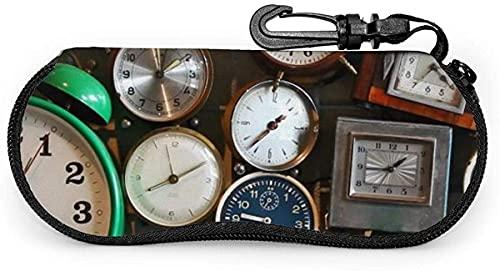 MODORSAN Reloj de pared Reloj despertador-Jirafas Estuche suave para anteojos para mujeres y hombres