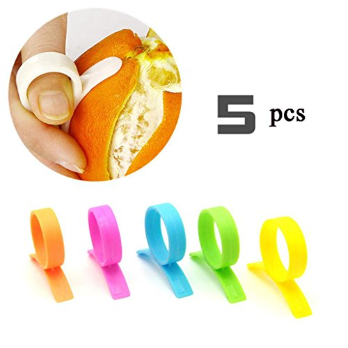 LDLCNCY Citron Éplucheur Orange Lemon Lime Peeler Remover Cuisine Outils 5 pcs