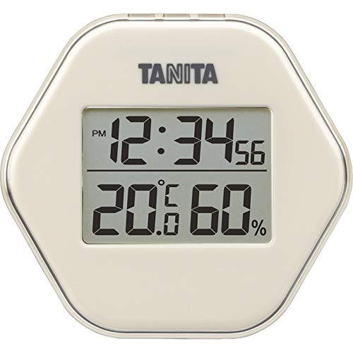 タニタ デジタル温湿度計 アイボリー TT-573IV 【温度計 湿度計 デジタル 健康 風邪予防 】