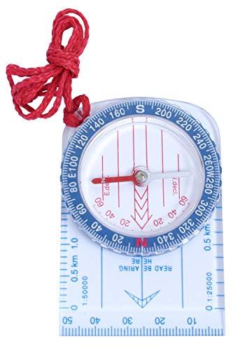 Mountain Warehouse Petite Boussole de Carte - Boussole de Navigation, Mesure d'échelle, Aiguille et Lignes, Boussole de Poche - Parfait pour randonnée, Voyage Unique Taille Unique