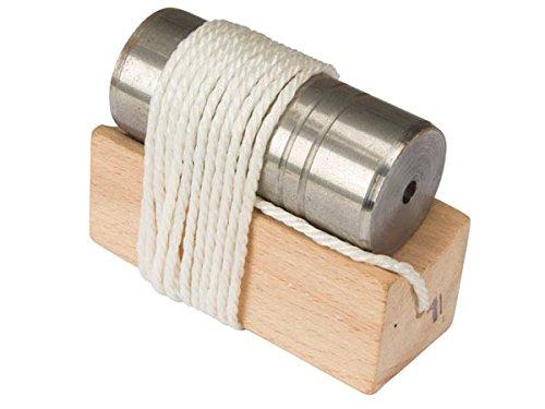 TOOLLAND - HE951999 Senklot Flach mit Block, 1 kg Gewicht 174665