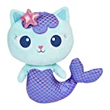 Gabby's Dollhouse, 8-inch MerCat Purr-ific Plush Toy, Kids Toys for Ages 3 and up