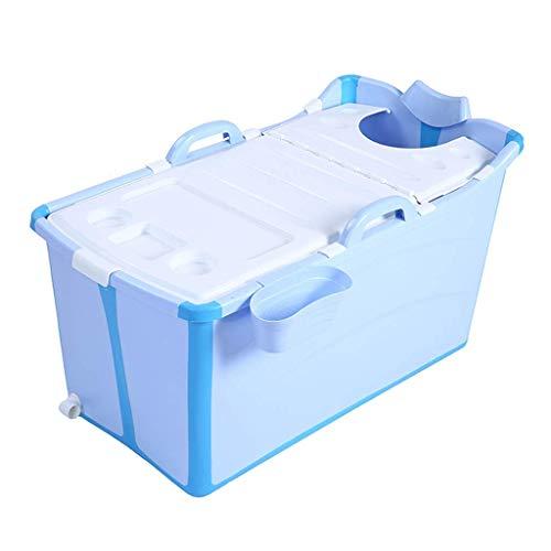 Adoudou Kinder Falten Badewanne Baby Schwimmen Tragbare Erwachsene Kunststoff-Badewanne Faltbar Großen Nicht-Aufblasbaren Waschpool Zu Hause,Blue