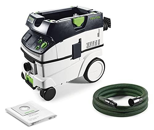 Festool CTM 26 E Cleanttec-Aspiratore Portatile 574981, Nero Verde