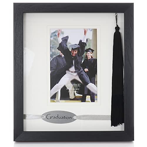 Lawrence Frames Black Wood Dbl Mat 4x6 Graduate