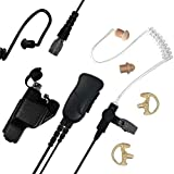 Sheepdog Quick Disconnect Police Lapel Mic, Compatible with Motorola XTS5000 XTS3000 XTS2500 and XTS1500 Radios, Law Enforcement Earpiece Headset