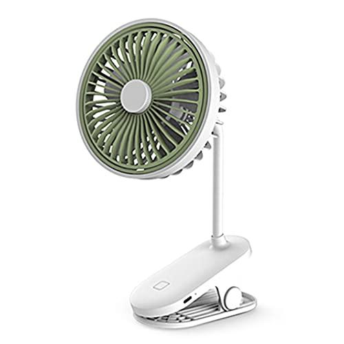 Xzbnwuviei Mini ventilador de clip en el ventilador USB de escritorio Ventilador de escritorio Ventilador de clip 2 en 1 Ventilador USB inalámbrico portátil ajustable 360 ° para cochecito
