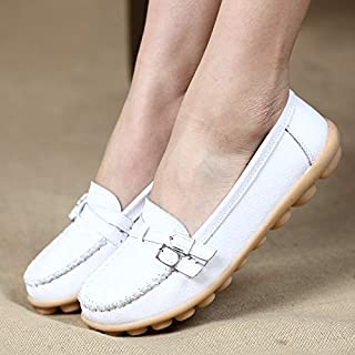 Casual Shoes Soft and Comfortable Casual Wild Leather Shoes for Women (Color:Black Size:35) Casual Shoes