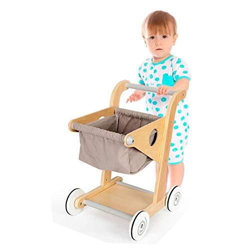 Kinder-Einkaufswagen aus Holz, Spielzeug, Einkaufstrolley für den Einzelhandel, Mini-Einkaufswagen, Spielzubehör für Kleinkinder ab 3 Jahren