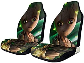 Heavenly Battle Baby Groot Car Seat Covers Accessories Set Super Soft Vehicle Seat Decoration Protector Cover Bag 2 Pieces Set