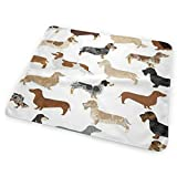Bikofhd Changing Pad Dachshund Dachshund Graph Portable Diaper Changing Pad - for Baby Showers Changing Mats and Reusable Detachable Wipe Able Mat- Unisex