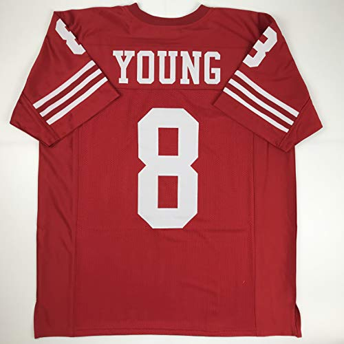 Unsigned Steve Young San Francisco Red Custom Stitched Football Jersey Size Men's XL New No Brands/Logos