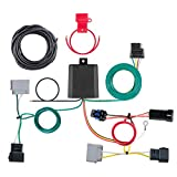 CURT 56330 Vehicle-Side Custom 4-Pin Trailer Wiring Harness, Fits Select Dodge Journey with LED Taillights , Black