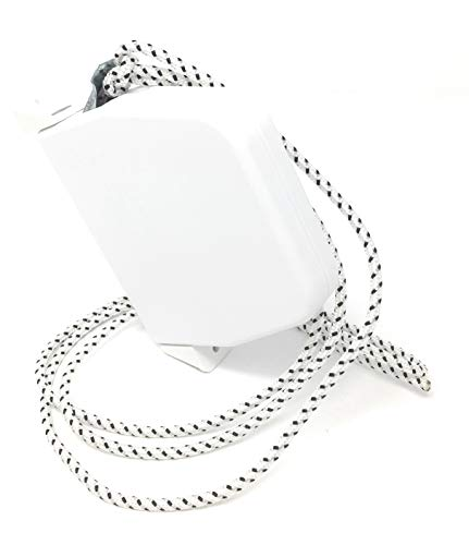 Schnurwickler weiß mini schwenkbar mit Schnur schwarz-weiß, Scharniersystem, mit ausführlicher Anleitung