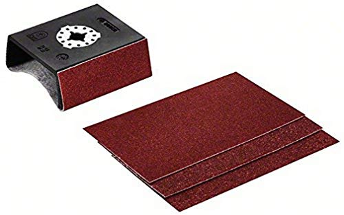 Bosch Professional Starlock - Taco lijador de perfiles, AUZ 70 G con 4 hojas de lija, 70 x 125 mm