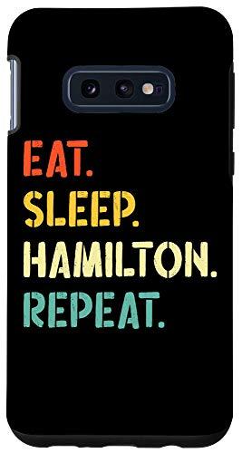 Galaxy S10e Vintage Hamilton Gift Idea - Eat Sleep Hamilton Repeat Case