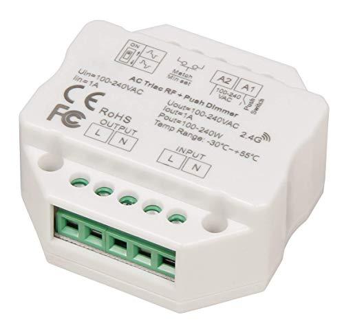 McShine - Tast-Dimmer   TD-24   LED-geeignet, max. 240W, 230V, passend für UP-Dose