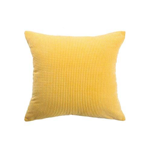 YeVhear - Funda de cojín para sofá, cama, color amarillo
