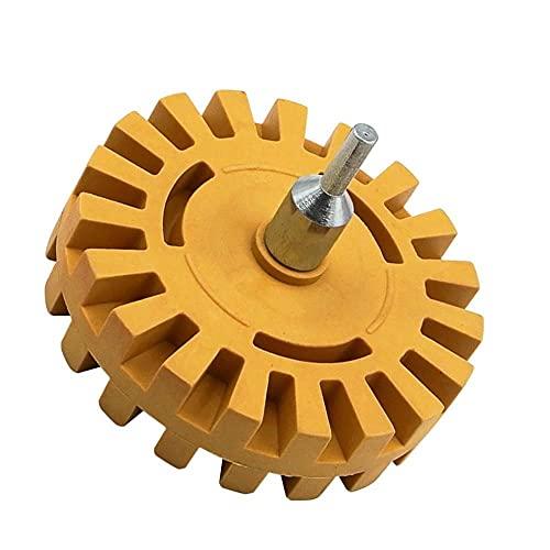 Rueda de goma de goma universal de 4 pulgadas para eliminar el pegamento adhesivo de pegamento adhesivo de pegamento automático de la herramienta de pintura de la reparación de automóviles Rueda de go