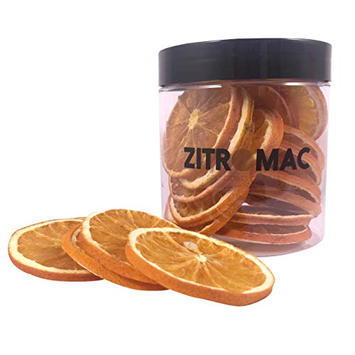 Naranja deshidratada para cóctel. Fruta deshidratada sin azúcar para coctel /decoración / repostería / navidad / bebidas.Rodaja de Naranja seca 100% natural sin aditivos. Tarro grande 130 Gr