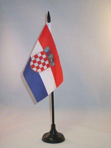 AZ FLAG Drapeau de Table Croatie 15x10cm - Petit Drapeaux DE Bureau croate 10 x 15 cm