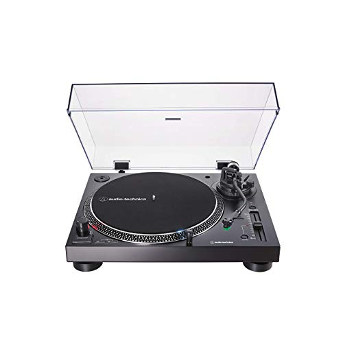Audio-Technica AT-LP120XUSB Direct-Drive Turntable (Analog & USB), Black, Hi-Fidelity, Plays 33 -1/3, 45, and 78 RPM Records, Convert Vinyl to Digital (Renewed)