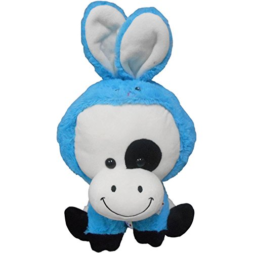 Texas Innovations Cute Easter Plush: Cow Wearing Bunny Costume!