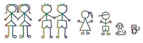FAMILY Gay and Lesbian Family Vinyl Clings/Stickers
